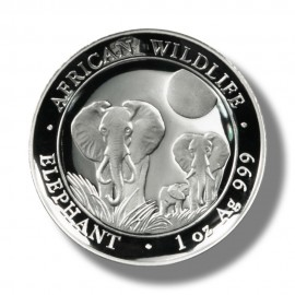 1 Unze Silber Somalia Elefant 2014 High Relief
