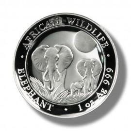 1 Unze Silber Somalia Elefant 2014 High Relief