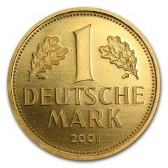 12 g Goldmark  1 D-Mark 2001