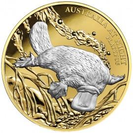 1 Unze Gold Platypus Schnabeltier 2019 Serie Australien bei Nacht Niue