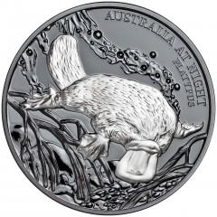 1 Unze oz Silber Platypus Schnabeltier Niue Box 2018 Australien bei Nacht