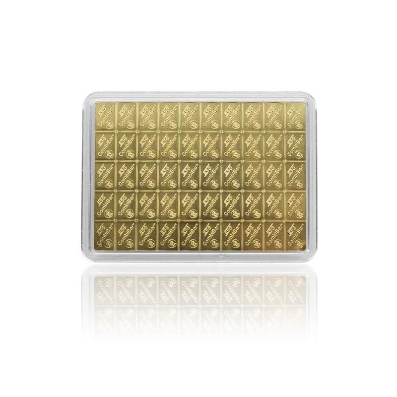 5 g Gold Tafelbarren Combibarren