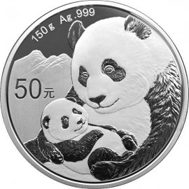 150 g Gramm Silber China Panda 2019 PP BOX