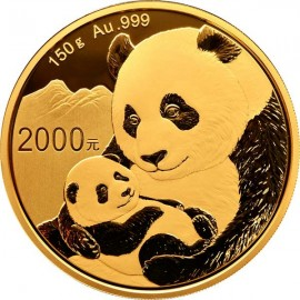 150 g China Panda Goldmünze 2018