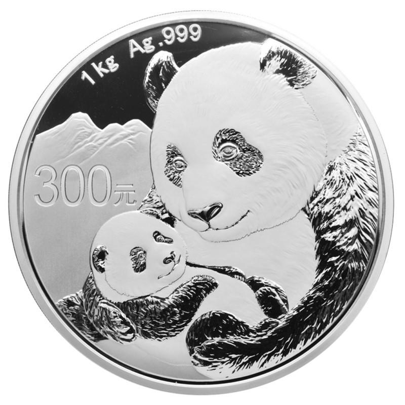 1 kg Kilo Silber China Panda 2019 PP BOX