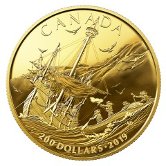 1/2 oz Gold  Early Canadian History - Arrival of the Europeans Canada  2019 PP
