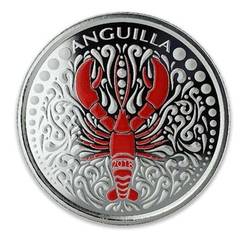 1 Unze Silber 2018 Anguilla Lobster farbig