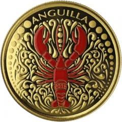 1 Unze oz Gold 2018 Lobster Anguilla farbig