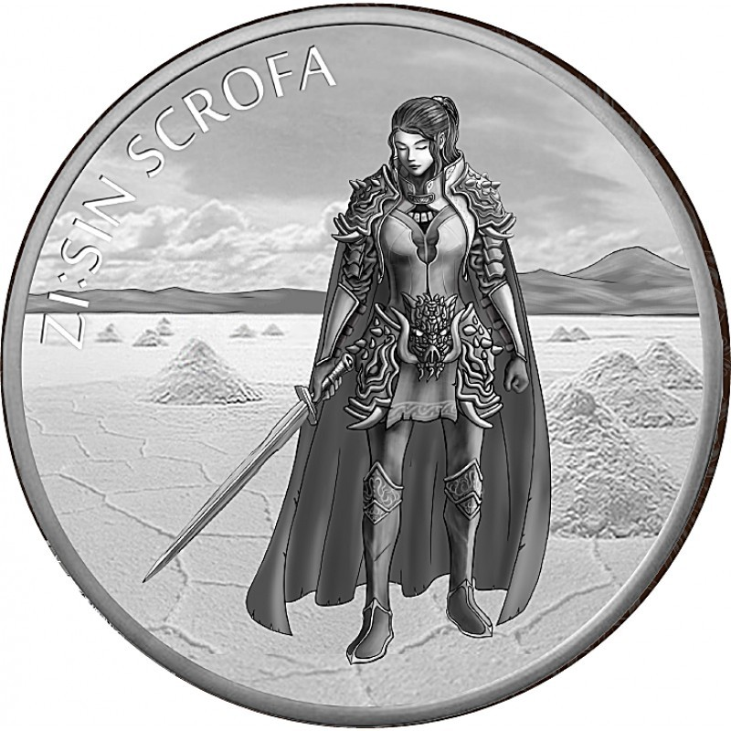 1 oz Unze  Silber Südkorea South Korea Scrofa  2019 1 Clay