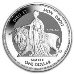 1 Unze Silber Una and the Lion 2019 British Virgin Islands Reverse frosted