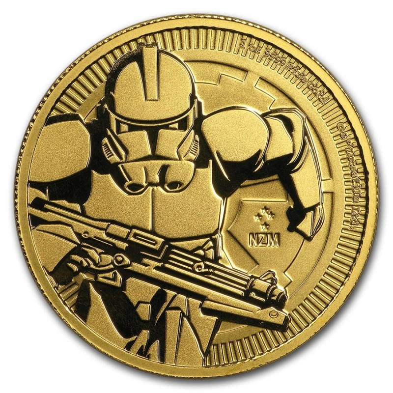 1 Unze oz Gold Clone Trooper Niue   2019