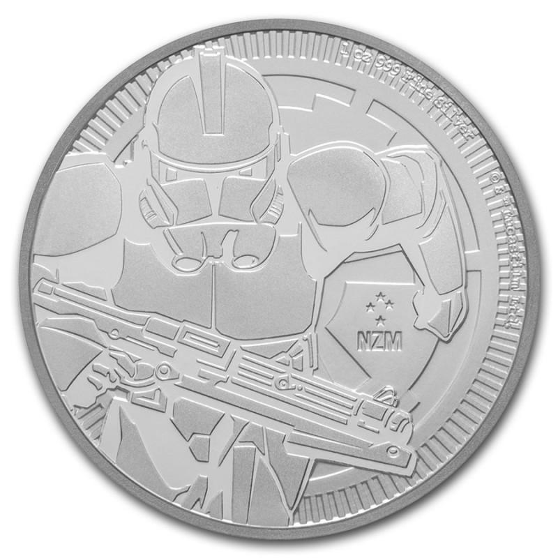 1 Unze oz Silber Darth Vader Star Wars Niue 2018 BU Lichtschwert