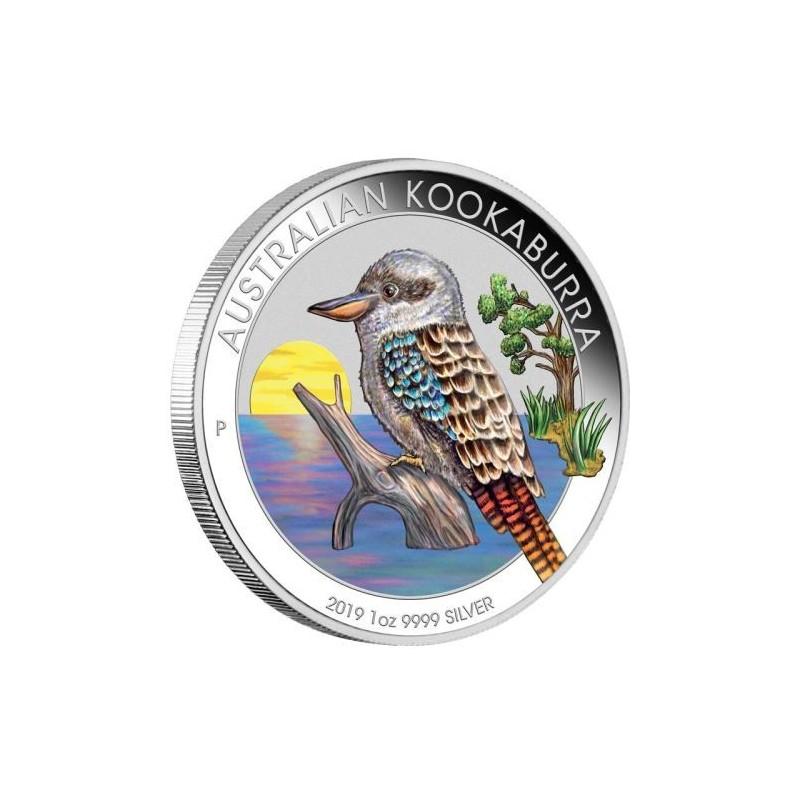 1 Unze Silber Australien Kookaburra 2018 WMF Berlin  Farbig