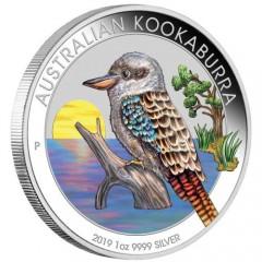 1 Unze Silber Australien Kookaburra 2019 WMF Berlin  Farbig
