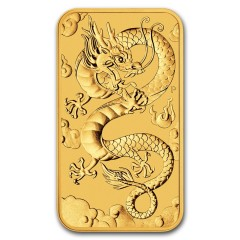 1 oz Unze Gold  Rectangular Dragon Perth Mint 2019