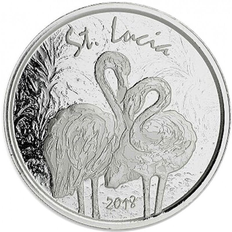 1 Unze Silber 2018 St Lucia Flamingo