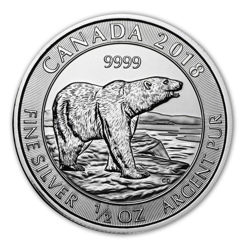 0,5 Unze Silber Polarbär 2018