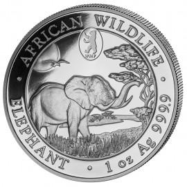 1 oz Silver Somalia Elefant 2019