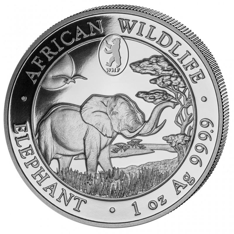 1 Unze Silber Somalia Elefant 2019 Privy WMF
