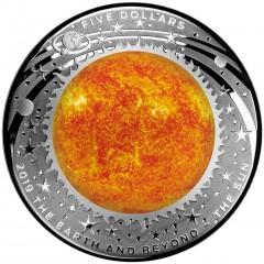 1 Unze Silber EARTH AND BEYOND - Sonne - Konvex
