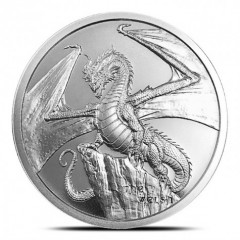 1 Unze Silber  World of Dragons  Welsh Dragon