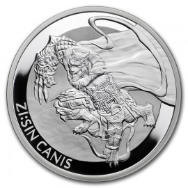 1 oz Unze  Silber Südkorea South Korea Canis 2018 PP 1 Clay