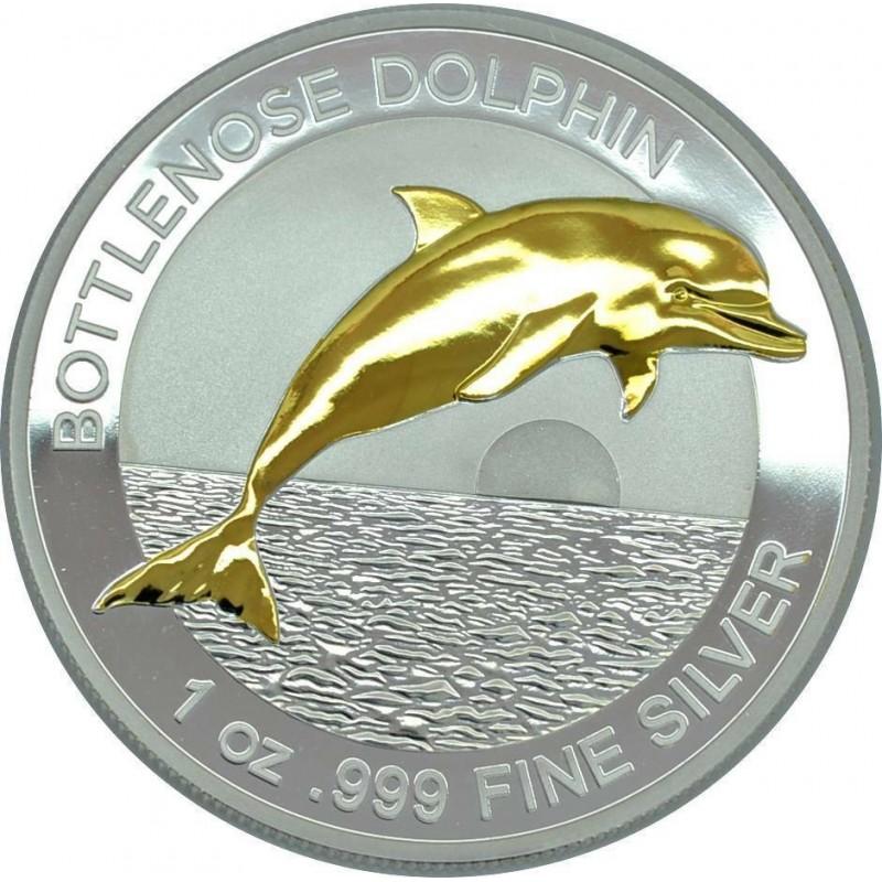 1 Unze Silber Delfin Bottlenose Dolphin 2019
