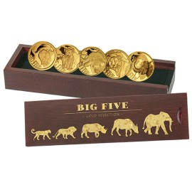 5 x 0,5 g Gramm  Gold  Big Five Set 2018 PP