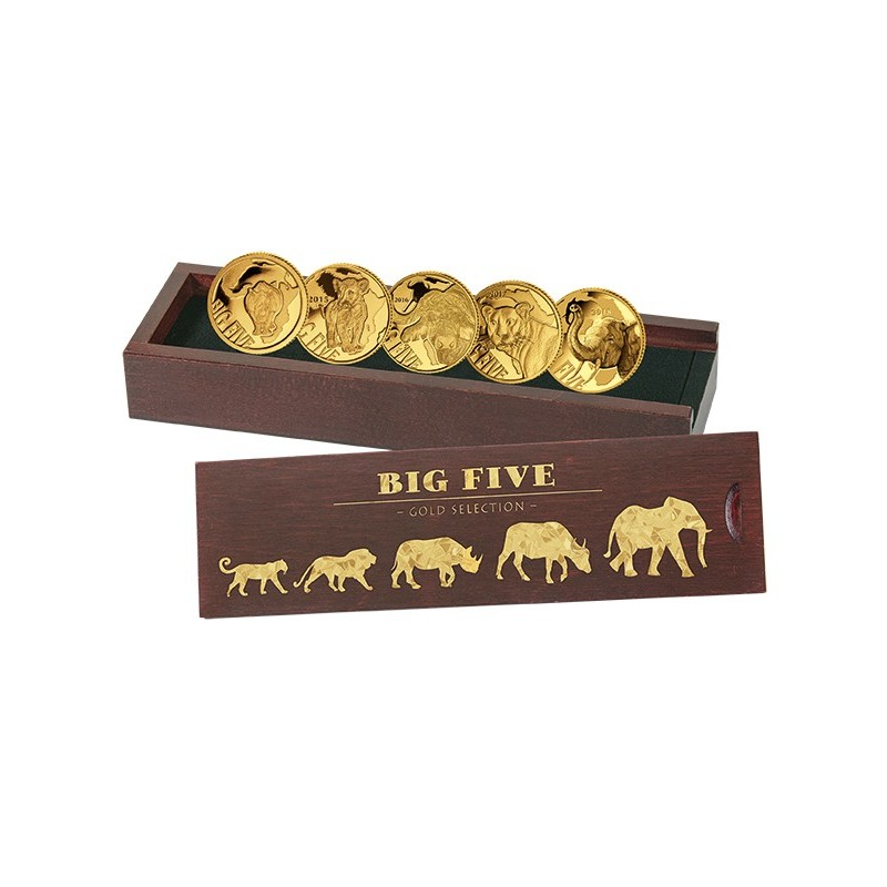 5 x 0,5 g Gramm  Gold  Big Five Set 2018 PP
