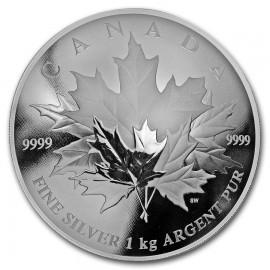 1kg Kilo Silber 250 $ Canada Maple Leaf PP 2018