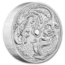10 oz Silver Dragon