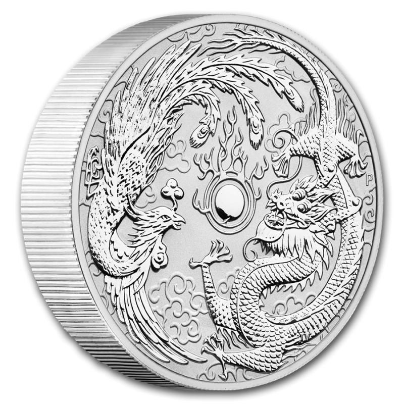 10 Unzen Silber  Dragon & Phoenix 2019