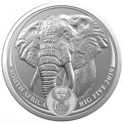 1 Unze Silber Big Five Elefant 2019 Blister