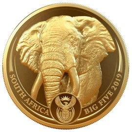 1 Unze oz Gold Big Five Elefant 2019