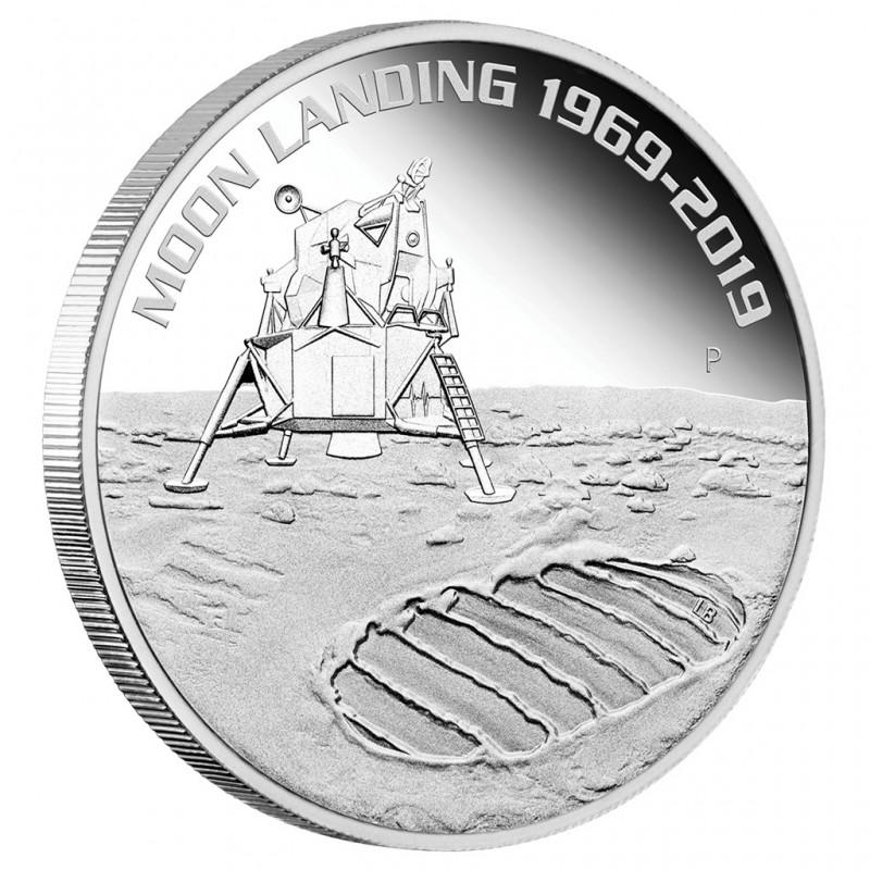 1 Unze Silber 50 Jahre Mondlandung 2019 PP