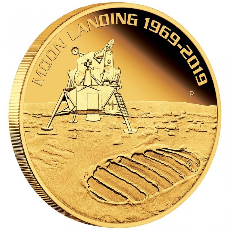 1 Unze oz Gold 50 Jahre Mondlandung 2019 PP Perth Mint