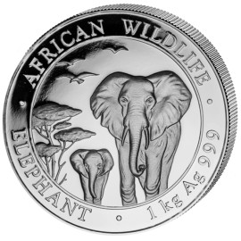 1 kg  Kilo Silber Somalia...