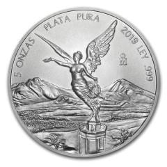 5 Unzen Silber Mexiko Libertad 2019