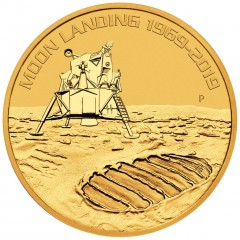 1 Unze oz Gold 50 Jahre Mondlandung 2019  Perth Mint BU