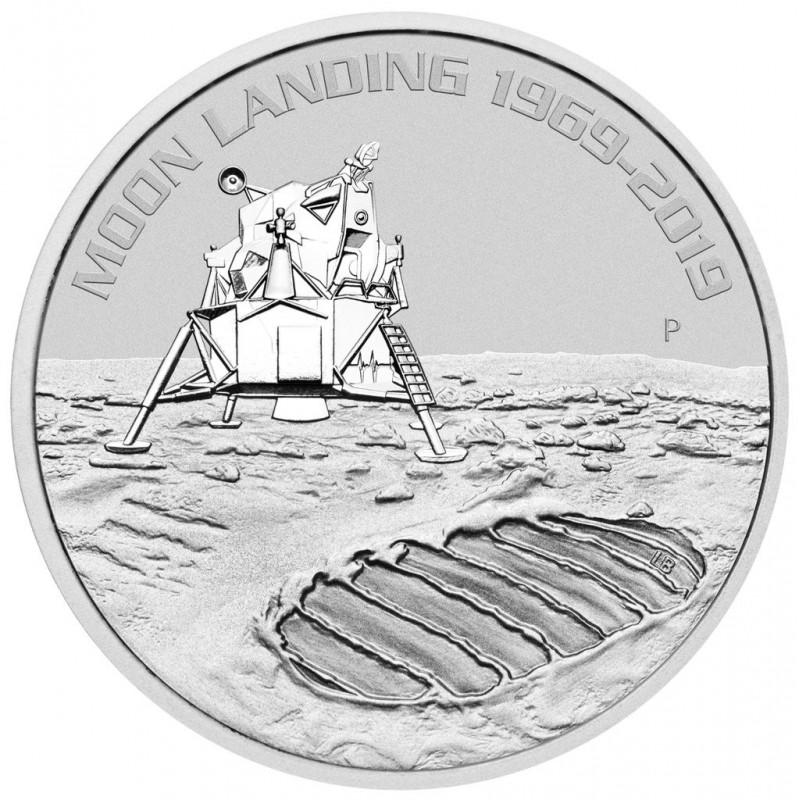 1 Unze Silber 50 Jahre Mondlandung 2019  Perth Mint