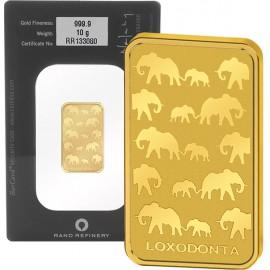 10 g Rand Refinery Elefanten Goldbarren