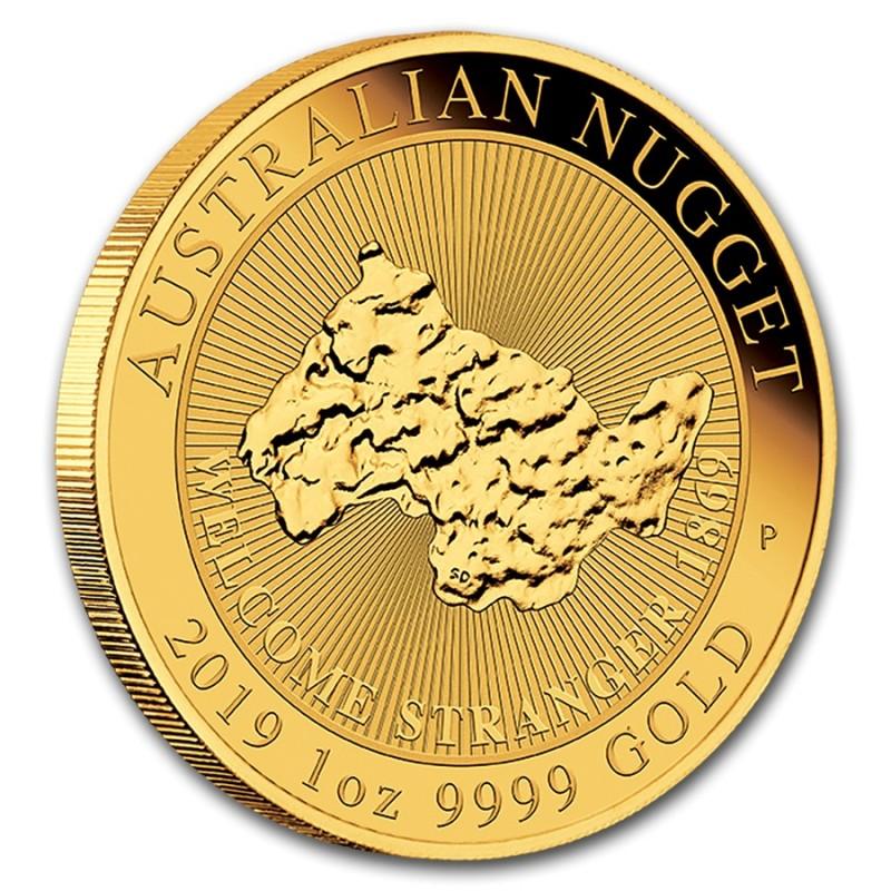 "1 oz Unze Gold  Nugget "" Welcomev Stranger ""  Perth Mint 2019"