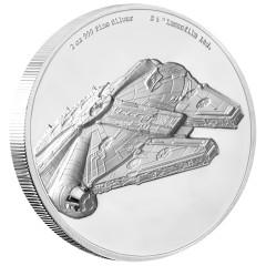 2 Unze oz   Silber  STAR WARS™ - Millennium Falke PP  Ultra High Relief