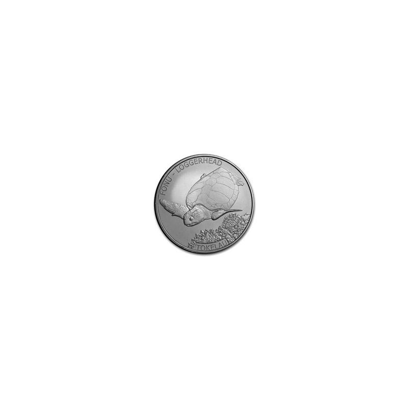 1 Unze Silber   Karettschildkröte TurtleTokelau 2019
