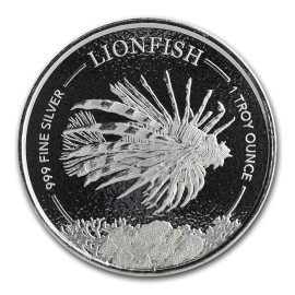 1 Unze Silber KLion Fish Barbados 2019
