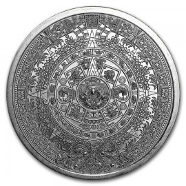 Silver round The Aztec