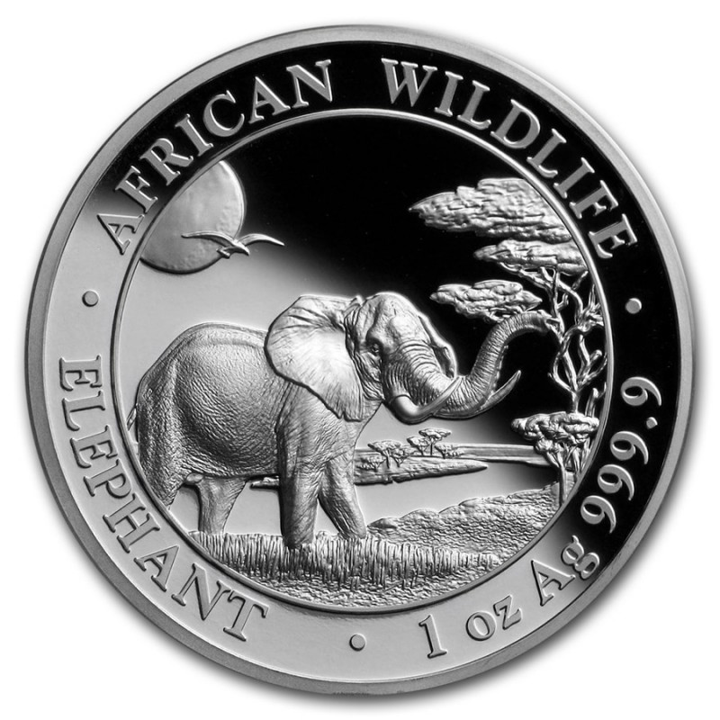 1 Unze Silber Somalia Elefant 2019 High Relief