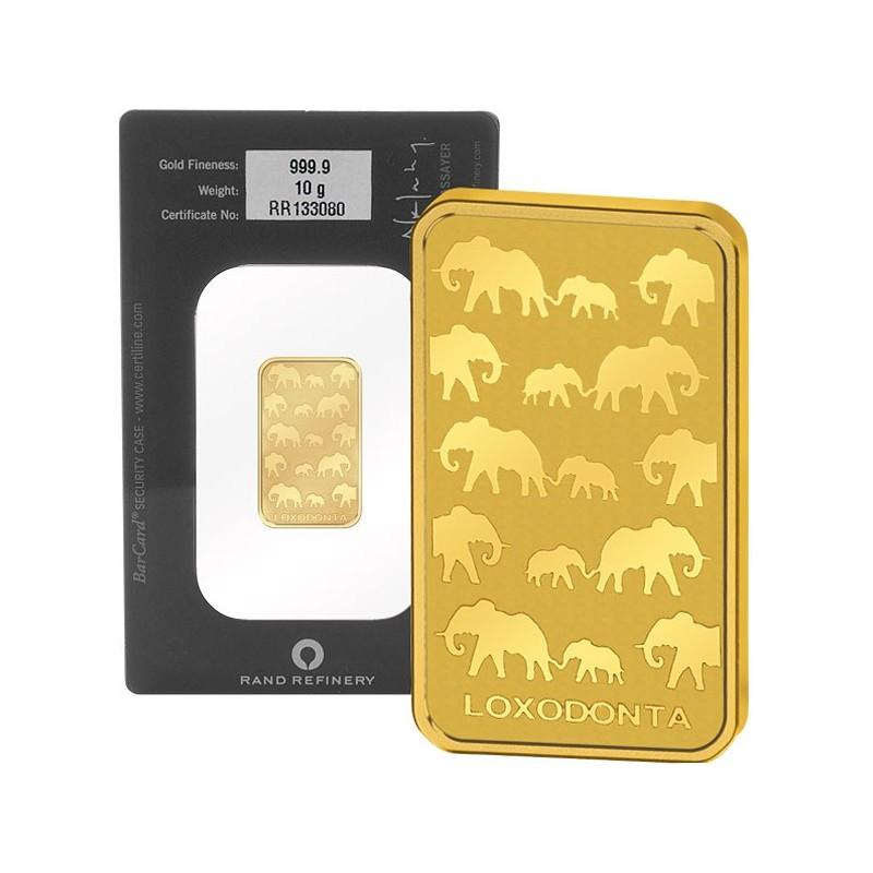 1 oz Rand Refinery Elefanten Goldbarren