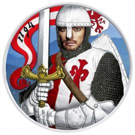 1 Unze Silber Münze Österreich 2019  Jubiläum 825th Herzog  Leopold  farbig
