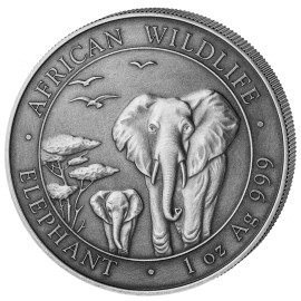 1 Unze Silber Somalia Elefant 2015